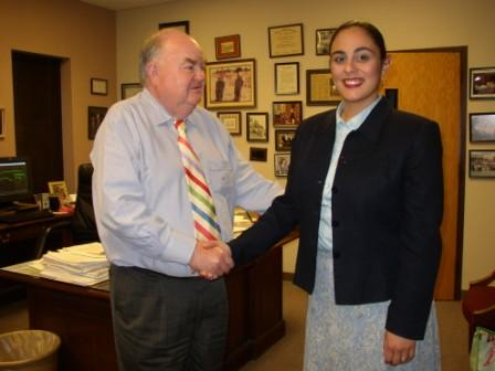 Arianna M. Aguilar is sworn in as a Certified Interpreter by Johnston County Clerk of Superior Court, 2006